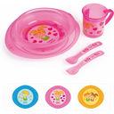 Набор посуды (тарелка, миска, кружка, вилка, ложка; арт. 4/405) — фото, картинка — 1