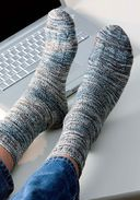 Вяжем два носка одновременно. Круговые спицы — фото, картинка — 3