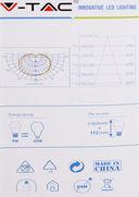 Светодиодная лампа V-TAC VT-2099 9 ВТ, А60, Е27, 2700К — фото, картинка — 5