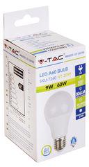 Светодиодная лампа V-TAC VT-2099 9 ВТ, А60, Е27, 2700К — фото, картинка — 7