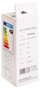 Светодиодная лампа V-TAC VT-255 4,5 ВТ, G120, Е14, 3000К, Samsung — фото, картинка — 5
