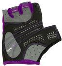 Перчатки для фитнеса SU-113 (M; чёрные/фиолетовые/серые) — фото, картинка — 4