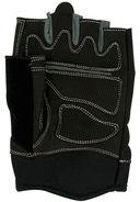 Перчатки для фитнеса SU-116 (S; чёрные/серые) — фото, картинка — 2